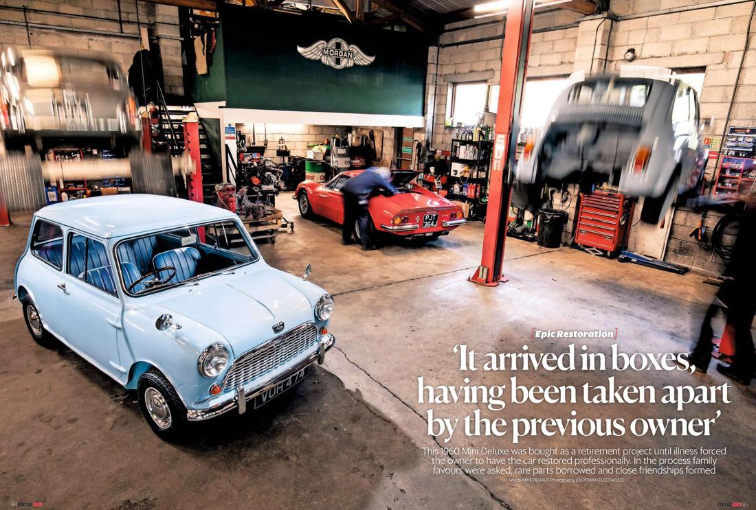 Classic Cars Perranwell Garage Mini restoration