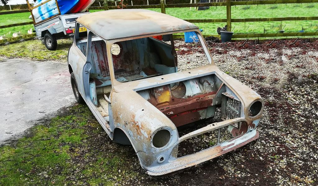 Mini Restoration Perranwell Garage before
